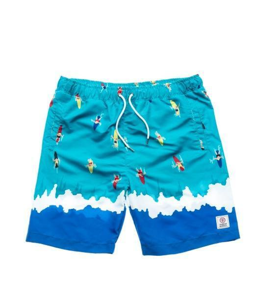 FRANKLIN & MARSHALL SWIM SHORTS TRUNKS BOARD SHORTS LARGE blueE GREEN RRP SALE