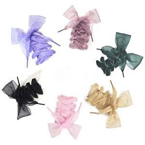 New-Fashion-Shoelaces-Flat-Silk-Satin-Ribbon-Sport-Shoes-Laces-Shoestrings