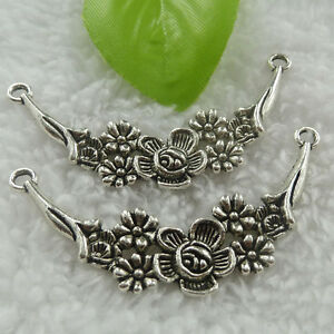 Free Ship 32 pcs tibet silver flower connector 58x28mm #710