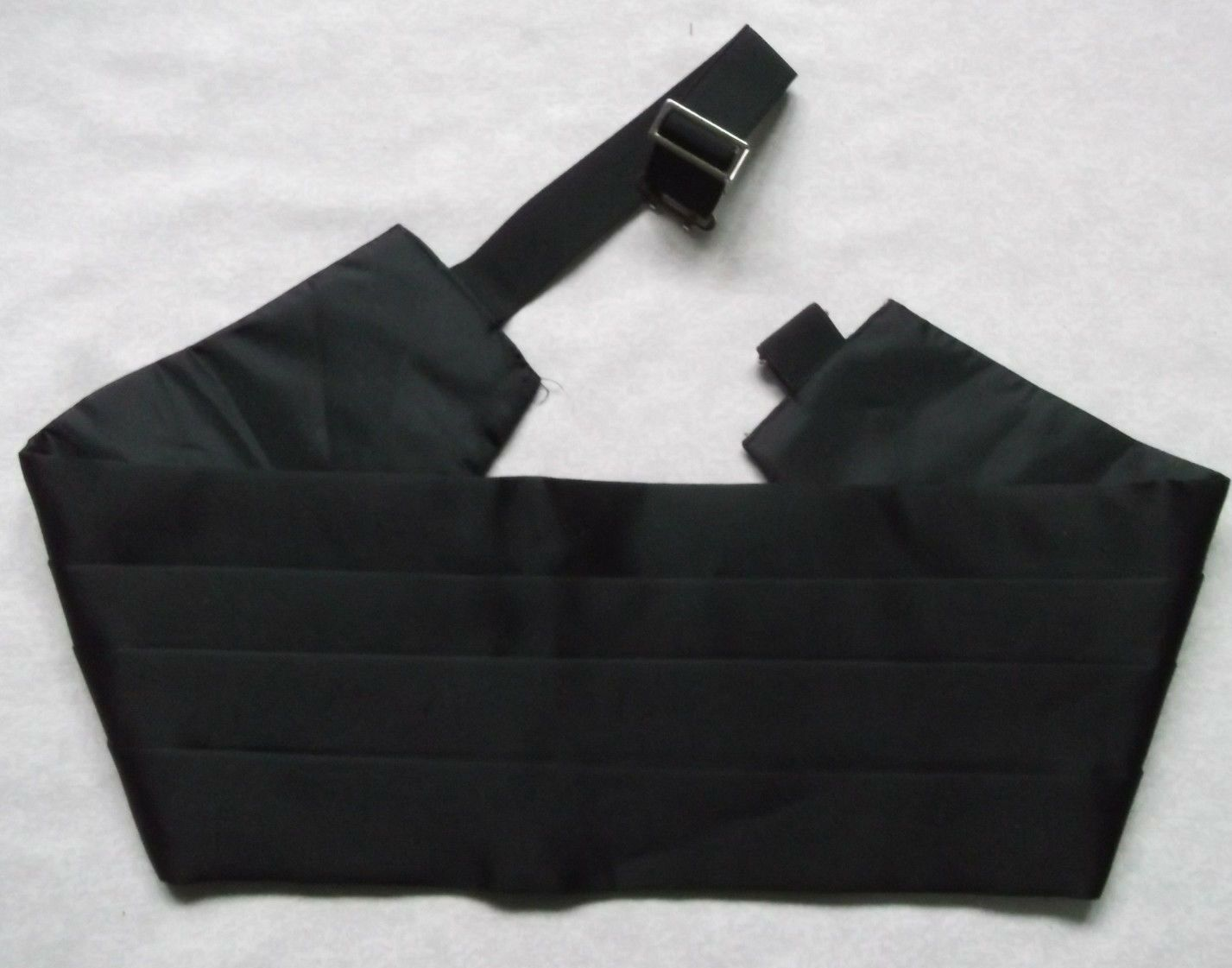 Cummerbund Mens Pleated Vintage Sash 1980s 1990s BLACK Pleated 38