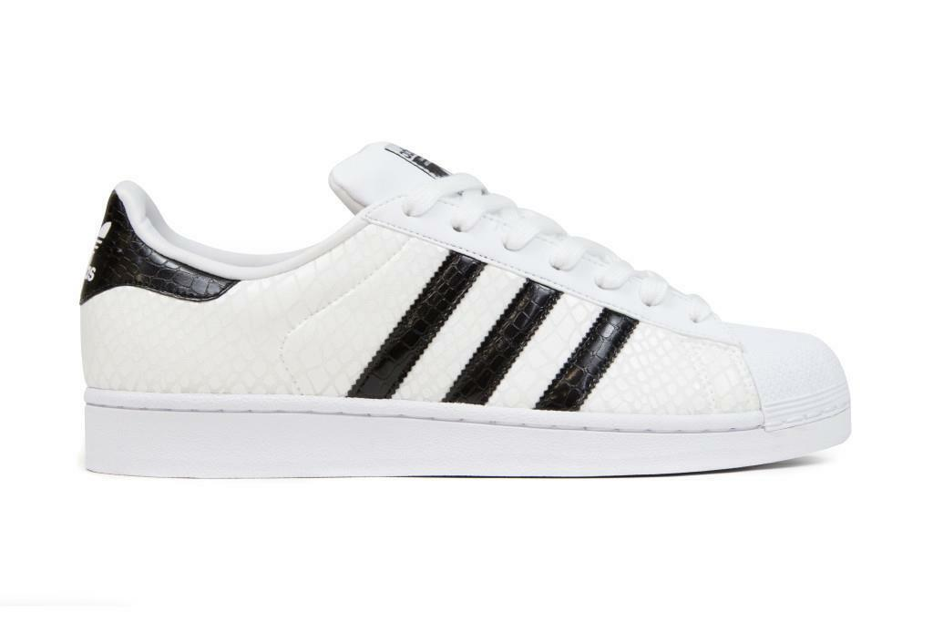 ADIDAS SUPERSTAR SNAKE PACK D70171 FOOTWEAR WHITE CORE BLACK - GLOSSY PATENT