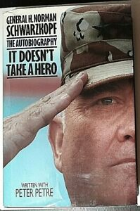 It-Doesn-039-t-Take-a-Hero-Signed-by-Norman-Schwarzkopf-Autographed-Hardback-1st-Ed