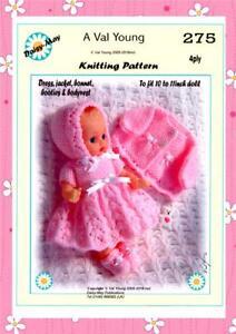 Muñecas Tejer patrón Daisy-May Val joven para adaptarse a un patrón no 10&#034; -11&#034; * 275 *  </span>