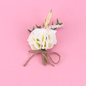 b1b9fb4506 Wedding Bridal Groom Calla Lily Artificial Flower Corsage Groomsman ...