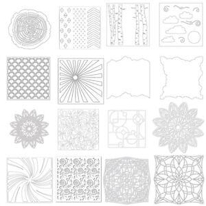 Background-Plastic-Spray-Layering-Stencils-Scrapbook-Album-Decor-Drawing-Sheets