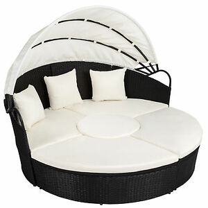 Alu rattan day bed garden furniture outdoor lounger sofa sun roof table black - <span itemprop='availableAtOrFrom'>Europe, United Kingdom</span> - Right to return At TecTake we offer a fourteen-day &quot;cooling off&quot; period, which gives you the opportunity to check your product and see if it fits your needs. If for any reason you are not  - Europe, United Kingdom