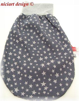 Niciart ♥ nuevo pucksack ♥ bebé saco de dormir ♥ estrellas gris Taupe ♥ algodón /& Molton ♥