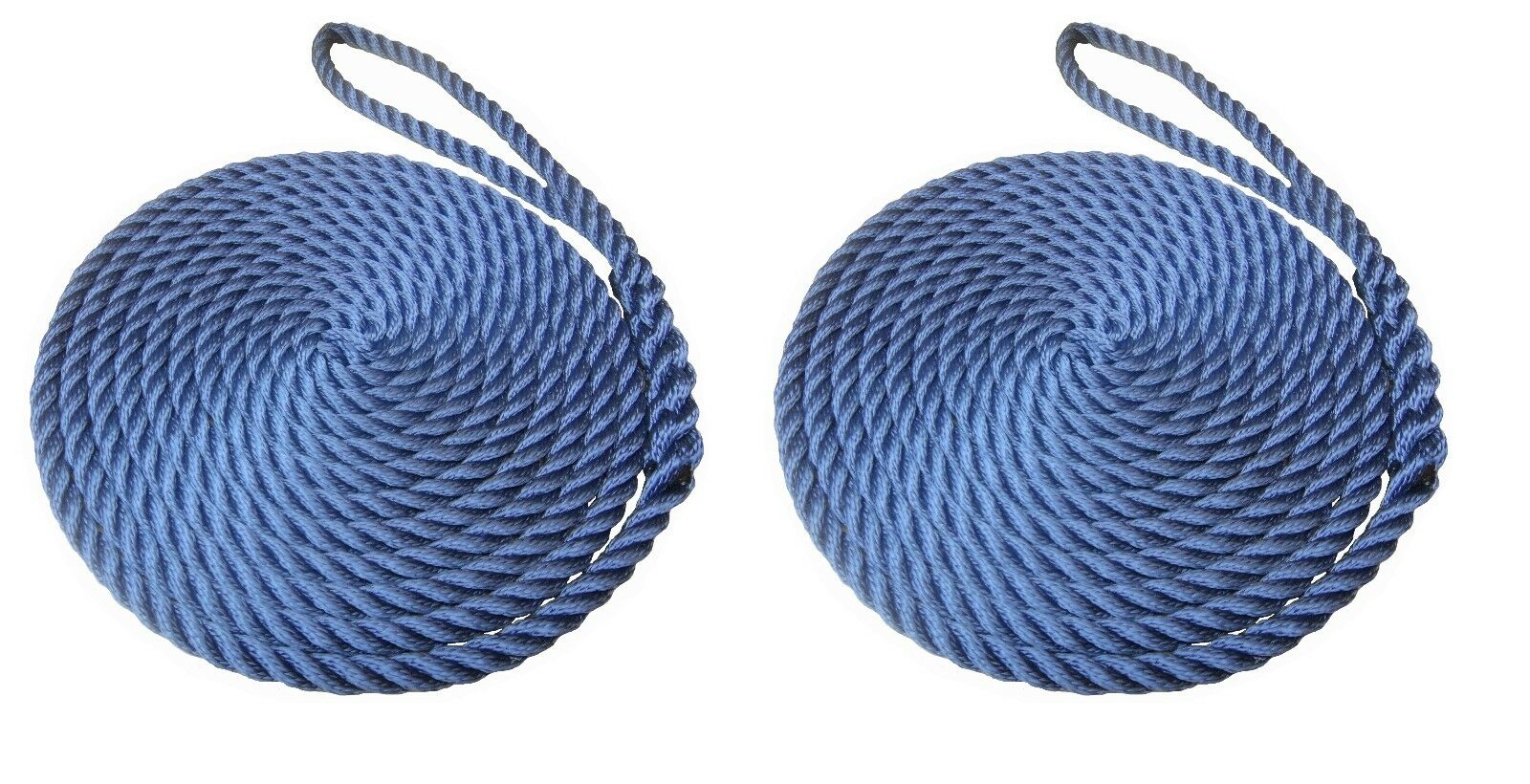 2 x 12 MTS OF 12MM NAVY blueE SOFTLINE MOORING ROPES   WARPS   LINES BOATS