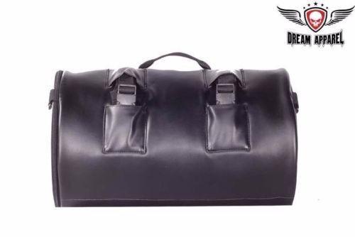 Round Motorcycle Sissy Bar Duffle Bag SB4 DD