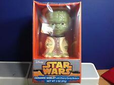 Disney Star Wars Ceramic Yoda Goblet - BRAND NEW - SEALED PACKAGE