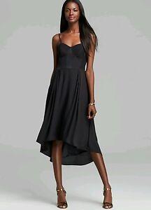 Elizabeth-and-James-black-silk-corset-dress-size-S-445