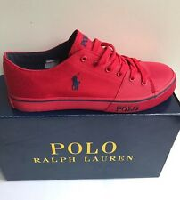 Mens Ralph Lauren Trainers Shoes  Cantor Red Brand New In Box RRP £85 Size 8