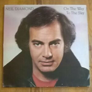 Neil-Diamond-2-x-Vinyl-LP-Albums-12-Greatest-Hits-On-the-Way-to-the-Sky-33rpm