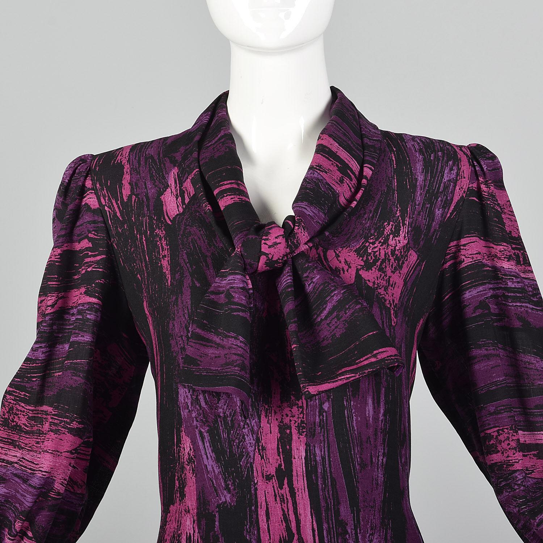 Medium Pauline Trigere 1980s Drop Waist Dress Vin… - image 7