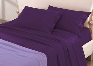 Draps Chambres Doubles Violet Lit 2 Places Double Production