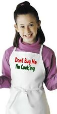 Funny Children's Apron Don't Bug Me I'm Cooking Aprons For Kids by CoolAprons