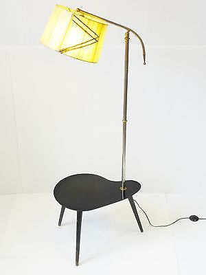 2019 Nuevo Estilo Superbe Lampadaire Tablette Rognon Palette Tripode 1950 Vintage 50's Floor Lamp