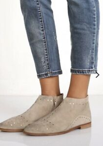 Russell&Bromley Beige Ankle Leather Boots Size 38   eBay
