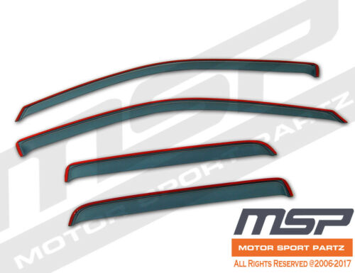 Ash Grey In Channel JDM Vent Visors Deflector 4pcs For Chevrolet HHR 06-11