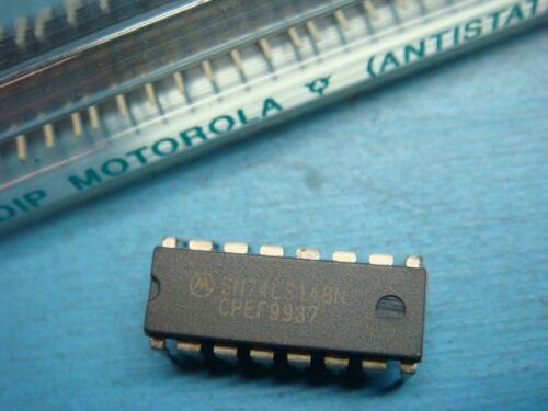 5 MOTOROLA SN74LS148N 74LS148 Encoder 8-to-3 Priority Bipolar 16 PIN DIP