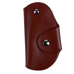 e06ad0437c5c Details about Men Women PU Leather Car Key Holder Keychain Wallet Case  Pouch Purse Keys Bag LC