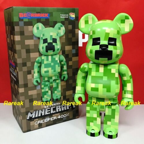 Medicom Be@rbrick 2017 Minecraft 400/% Creeper Mojang Green Pattern Bearbrick 1pc