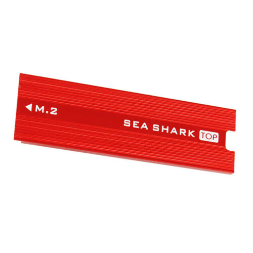 Aluminum Alloy Heatsink with Thermal Pads for PCIE NVME M.2 NGFF Red
