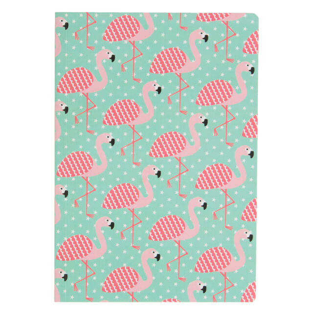 A5 Notebook / Notepad / Memo Book with Flamingo Design * Teacher School Gift