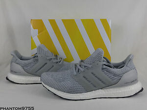 adidas Ultra BOOST 3.0 Clear Grey Men s Size 8 13 BB6059 Gray White ... b21224dc4