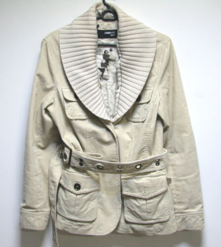96 Kvinde Sport Ambiente 36 Størrelse Jacket Us Beige Ladies Bomuld 6 European Lady x114RnI