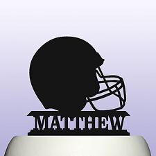 Personalised Acrylic American Football Player Helmet Birthday Cake Topper