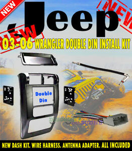 RADIO-STEREO-MOUNTING-INSTALLATION-DASH-KIT-DOUBLE-DIN-METRA-95-6541-JEEP-WRANG