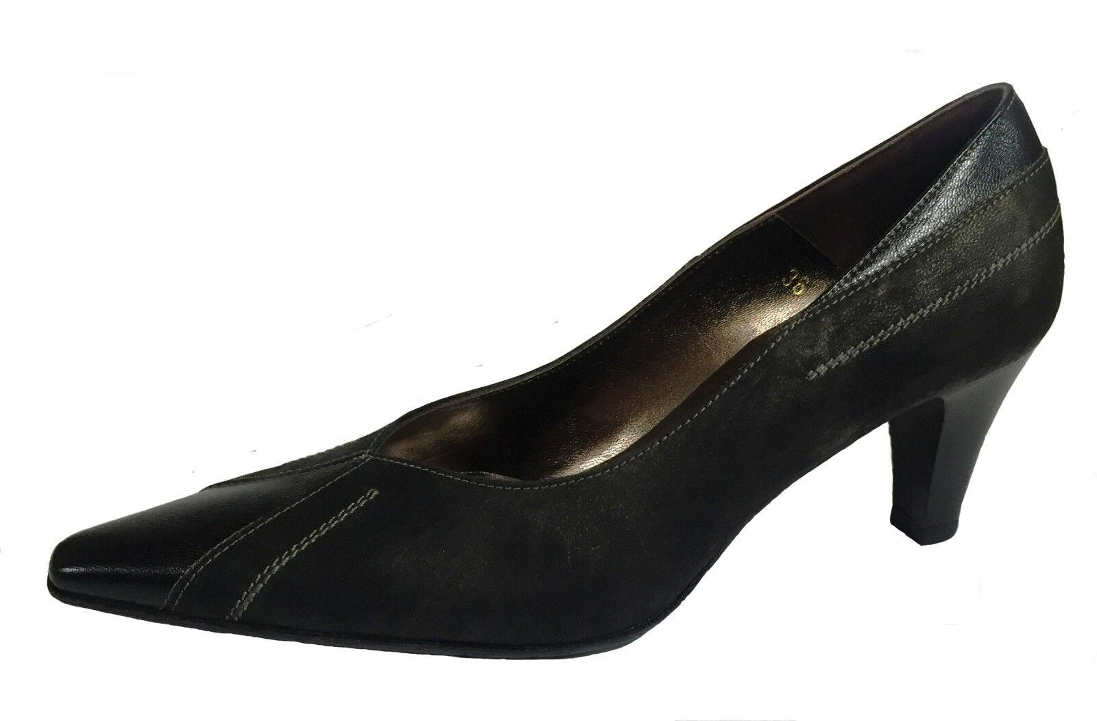 migliore qualità ELATA Scarpe donna décolleté con punta punta punta in pelle colore nero con tacco comodo  confortevole