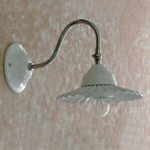 APPLIQUE LAMPADA PARETE CLASSICO ACCIAIO CROMO CROMATO CERAMICA ...