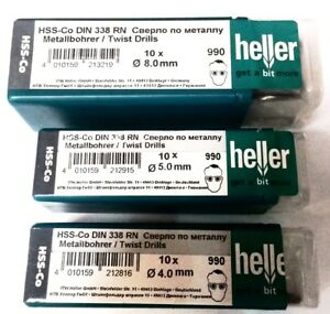 Heller HSS Cobalt Drill Bit 1mm-14mm HSS-Co Pick Your Size Quality German Tools