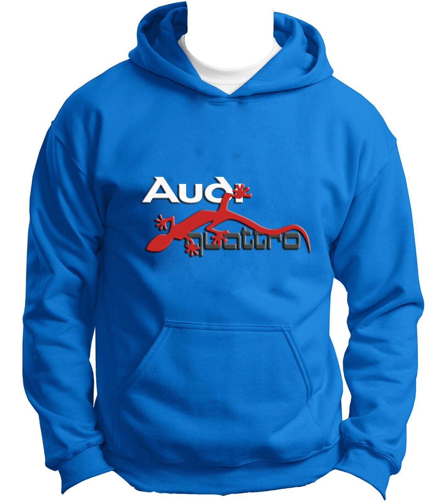 AUDI Quattro Lizard Hoodie NEW DTG Print Logo Hoody Car Lovers Sweatshirt Gift