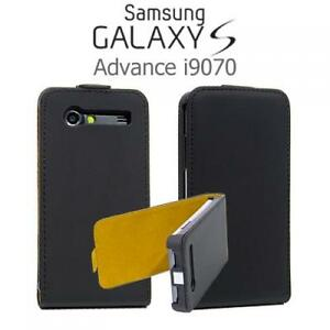 Handy-Tasche-Flip-Style-Case-Samsung-i9070-Galaxy-S-Advance-Schwarz-Schutzhulle