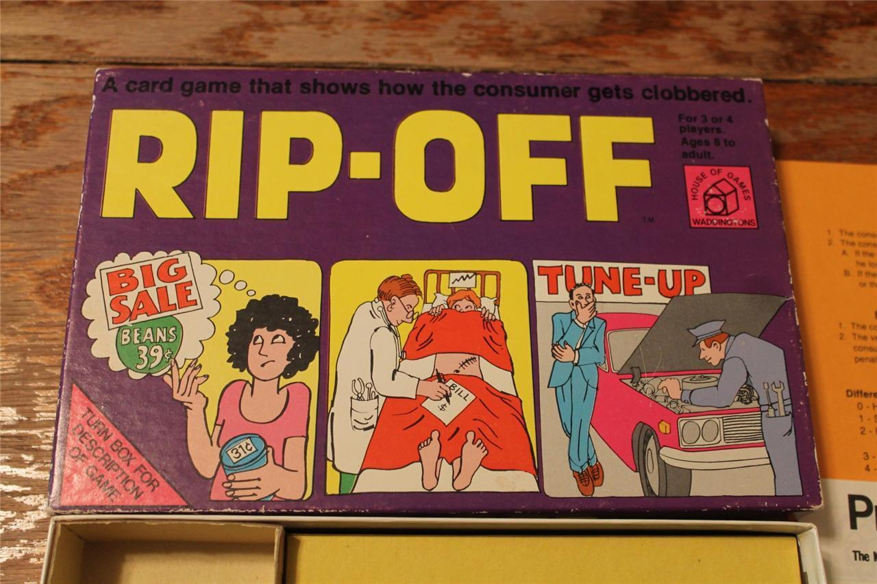 Vintage Rare 1975 RIP-OFF Game House of Games Waddingtons RipOff Rip Off