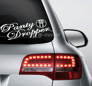 Panty Dropper Decal Euro Sexy Hot Funny Car Window Bumper Vinyl - Funny decal stickers for carsdetails about panty dropper decal funny car vinyl sticker euro jdm