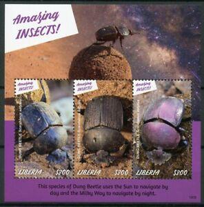 Liberia 2019 Neuf Sans Charnière Fabuleux Insectes Dung Beetle 3 V M/s Insectes Timbres-afficher Le Titre D'origine DéLicieux Dans Le GoûT