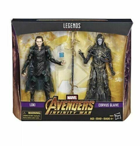Loki Corvus GLAIVE 2Pack WALMART EXC Marvel leggende Avengers Infinity War NUOVO