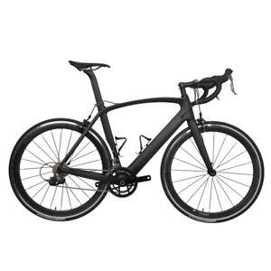 54cm-AERO-Carbon-Frame-Road-Bike-700C-Wheel-Clincher-Fork-seatpost-V-brake-172-5