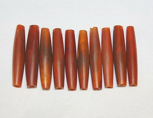 """Hand Crafted Horn Beads 1.5/"""" Horn Tube Pipe 40 Pieces per Pack"""