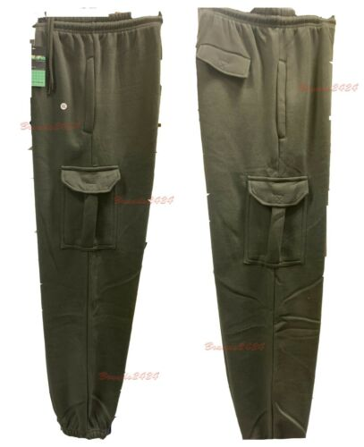 Mens Cargo Combat Jogging Bottoms Trousers Elasticated Tracksuit Joggers S-2XL