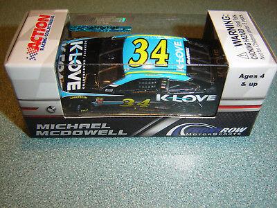 Michael McDowell 2018 K-LOVE #34 Ford Fusion 1//64 NASCAR