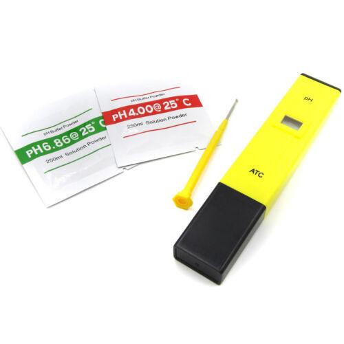 Pocket Pen Water PH Meter Digital Tester for Aquarium Pool Water Laboratory