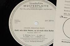 BACH, WEHRUNG, JELDEN, LISKEN, STÄMPFLI -Gott...- LP 1961 Promo Archiv-Copy mint