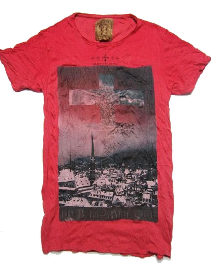 Pearly King Uomo MENO T-Shirt rosso (PKTS055)