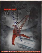 """DUISBURG, Werbung 1944, DEMAG Krane """"Krane aus Deutschland, leistungsfähig,stark"""