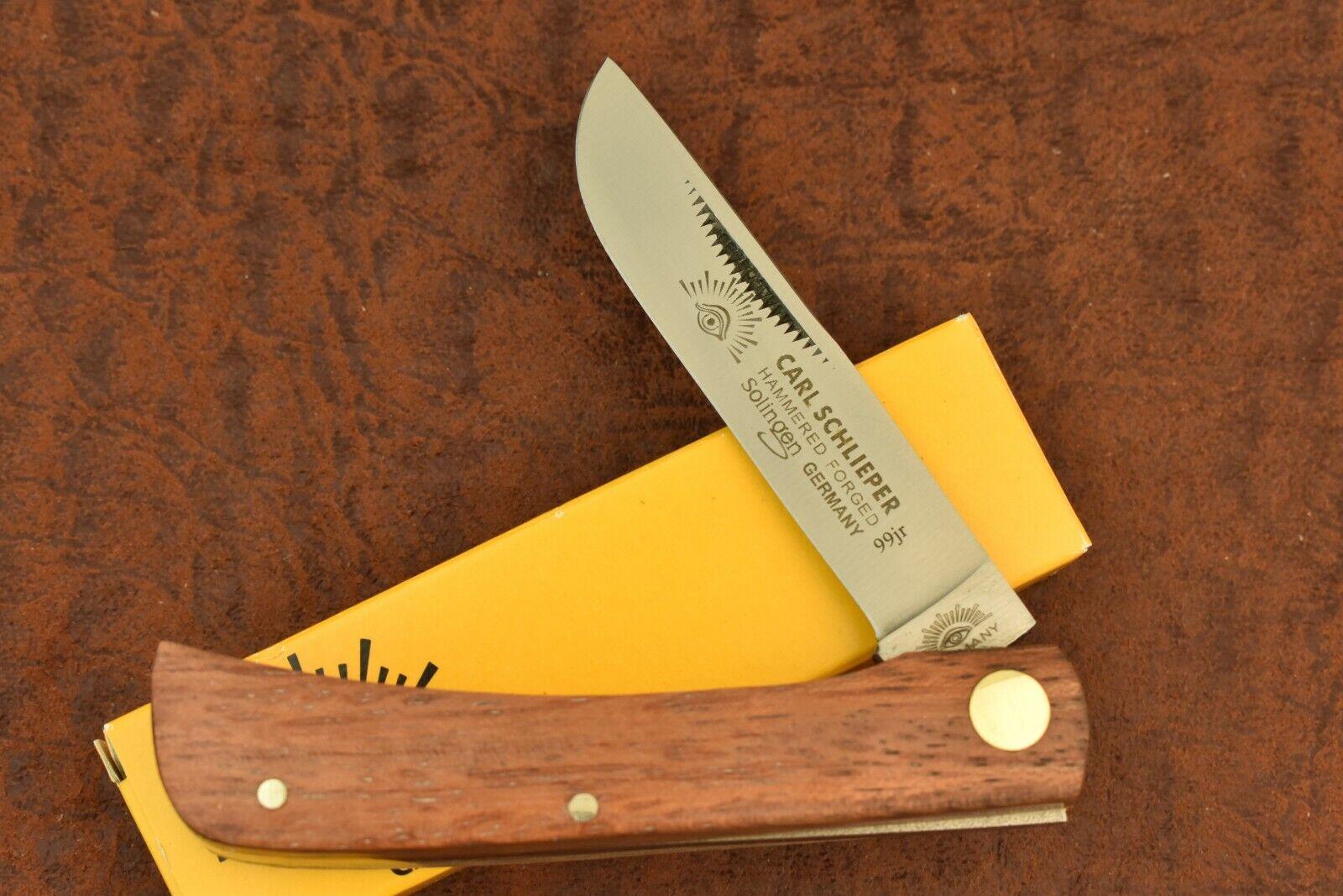 GERMAN EYE BRAND CARL SCHLIEPER WOOD SODBUSTER KNIFE 99JR SOLINGEN (7080-4)